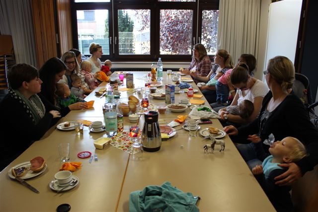 "1. Familienfrühstück des Sachausschusses ""Junge Familie"" in Oberzier"
